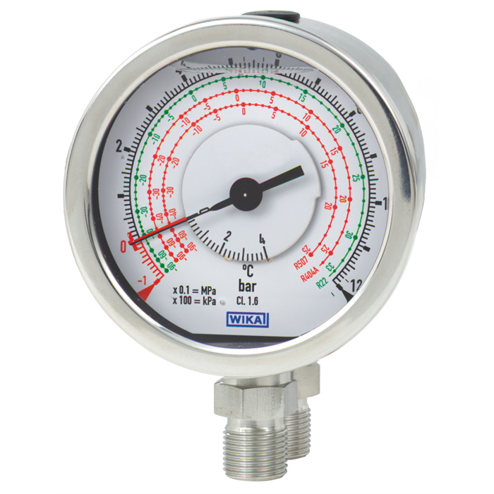 New differential pressure gauge for refrigeration and air-conditioning applications